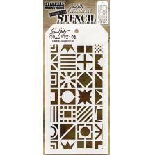 Tim Holtz Layered Stencil 4.125X8.5 - Patchwork Cube