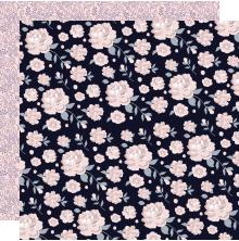 Kaisercraft Breathe Double-Sided Cardstock 12X12 - Floral Twilight