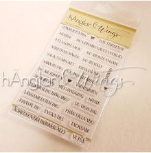 hÄnglar & Wings Clear Stamps - Rak Text