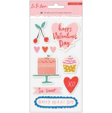 Crate Paper Embossed Puffy Stickers 10/Pkg - La La Love