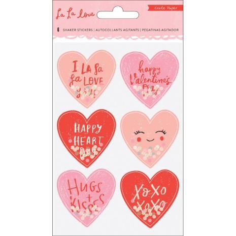 Crate Paper Shaker Stickers 6/Pkg - La La Love