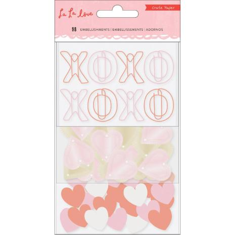 Crate Paper Small Embellishments - La La Love