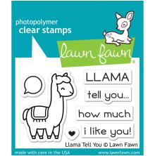 Lawn Fawn Clear Stamps 3X2 - Llama Tell You