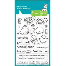 Lawn Fawn Clear Stamps 4X6 - Get Well Before n Afters