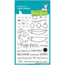 Lawn Fawn Clear Stamps 4X6 - Be Hap-Pea