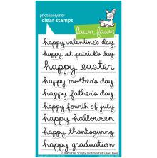 Lawn Fawn Clear Stamps 4X6 - Celebration Scripty Sentiments