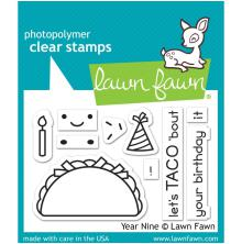 Lawn Fawn Clear Stamps 3X2 - Year Nine