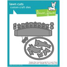 Lawn Fawn Custom Craft Die - Shadow Box Card Spring Add-On
