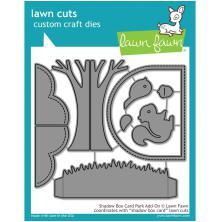 Lawn Fawn Custom Craft Die - Shadow Box Card Park Add-On