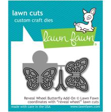 Lawn Fawn Custom Craft Die - Reveal Wheel Butterfly Add-On