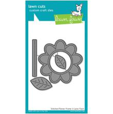 Lawn Fawn Custom Craft Die - Stitched Flower Frame
