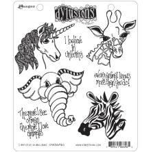 Dylusions Cling Stamp Collections 8.5X7 - I Believe In Unicorns