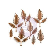 Prima Finnabair Mechanicals Metal Embellishments 8/Pkg - Woodland Fern