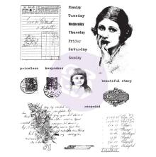 Prima Finnabair Cling Stamps 6X7.5 - Beautiful Story