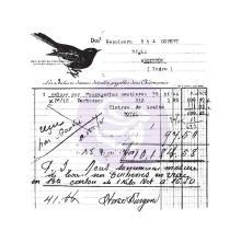 Prima Finnabair Clear Stamp 2.5X2.5 - Old Receipt