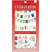 American Crafts 30 Page Stickers Book 4.75X8 - Birthday Greetings