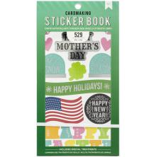American Crafts 30 Page Stickers Book 4.75X8 - All The Holidays