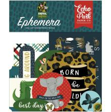 Echo Park Animal Safari Cardstock Die-Cuts 33/Pkg - Ephemera