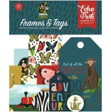 Echo Park Animal Safari Cardstock Die-Cuts 33/Pkg - Frames & Tags