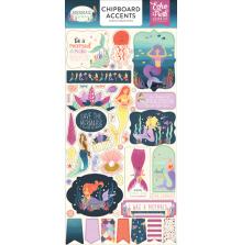 Echo Park Mermaid Dreams Chipboard 6x13 - Accents