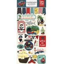 Echo Park Pirate Tales Chipboard 6x13 - Accents