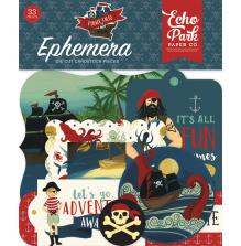 Echo Park Pirate Tales Cardstock Die-Cuts 33/Pkg - Ephemera