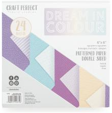 Tonic Studios Craft Perfect 6x6 Card Packs - Dream In Color 9375E