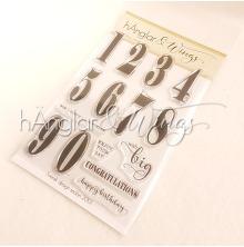 hÄnglar & Wings Clear Stamps - Stora Siffror