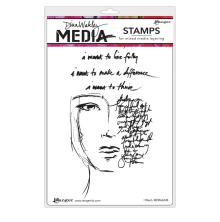 Dina Wakley Media Cling Stamps 6X9 - I Want