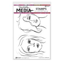 Dina Wakley Media Cling Stamps 6X9 - Lovely Women