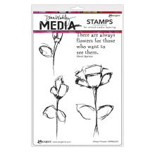 Dina Wakley Media Cling Stamps 6X9 - Always Flowers
