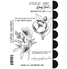 Wendy Vecchi Cling Stamps 6 1/2 x 8 3/4 - Delightful Art