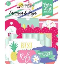 Echo Park Best Summer Ever Cardstock Die-Cuts - Frames & Tags