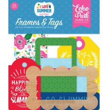 Echo Park I Love Summer Cardstock Die-Cuts - Frames & Tags