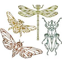 Tim Holtz Sizzix Thinlits Die Set 4PK - Geo Insects