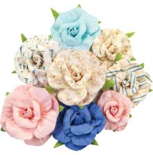 Prima Golden Coast Mulberry Paper Flowers 8/Pkg - Waterfront Bay