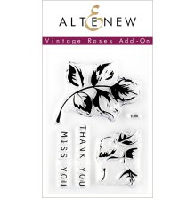 Altenew Clear Stamps 2X3 - Vintage Roses Add-On