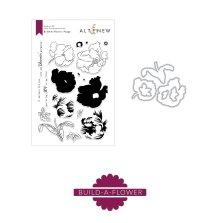 Altenew Clear Stamp And Die Build A flower - Poppy