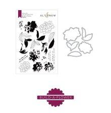 Altenew Clear Stamp And Die Build A flower - Dahlia