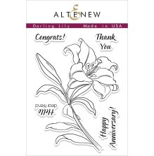 Altenew Clear Stamps 3X4 - Darling Lily