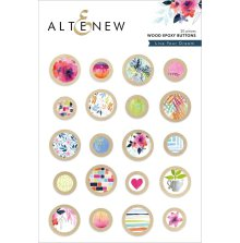 Altenew Wood Epoxy Buttons - Live Your Dream