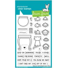 Lawn Fawn Clear Stamps 4X6 - Keep On Swimming