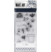 Wendy Vecchi Make Art Stamp Die & Stencil Set - Flower Pot