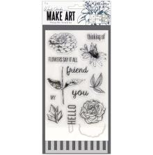 Wendy Vecchi Make Art Stamp Die & Stencil Set - Flowers Say It All