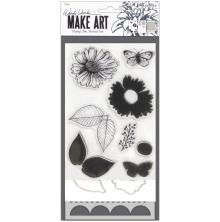 Wendy Vecchi Make Art Stamp Die & Stencil Set - Country Flowers