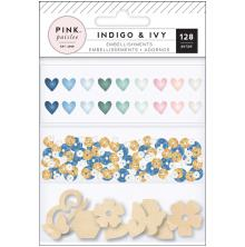 Pink Paislee Mixed Embellishments - Indigo & Ivy