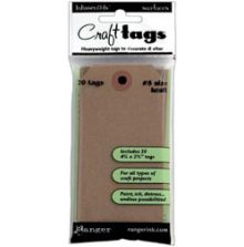 Inkssentials Brown Kraft Surfaces 20/Pkg Tag #5 4.5´X2.375´