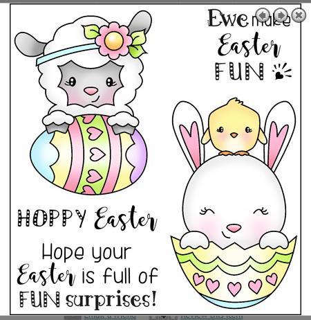 Darcies Clear Polymer Stamp Set -  Easter Surprise
